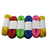 Quality Heavy Duty Waxed Ice Hockey Laces Custom Package Design Tight Moulded Tips for sale