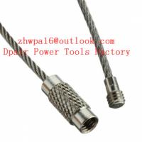 Quality Locking Cable Key Ring, with Sleeve   Galvanised Steel for sale