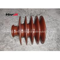 Quality Distribution Lines 33kv Pin Insulator With Zinc Thread Brown BS Standard for sale