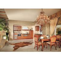 Best Solid Wood Wall Mounted Kitchen Cabinets For Living Room , Cherry Wood Kitchen Cupboards wholesale