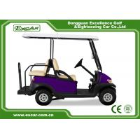 Quality EXCAR Four Wheel Battery Operated Golf Buggy Mini Type Purple Color for sale