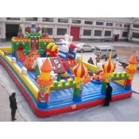 China Kids Funny Inflatable Toy Sports Games Cartoon Castles With PVC Fireproof on sale