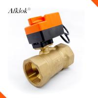China Brass Pneumatic 2 Way Control Valve , High Pressure Ball Valve For Air Conditioner on sale