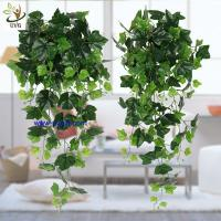 China UVG interior decoration 1 meter green hanging faux ivy with plastic vine leaves for sale CHP01 on sale