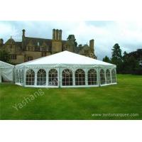 Quality Aluminum Framed Customized Outdoor Canopy Gazebo Party Tent White PVC Top for sale
