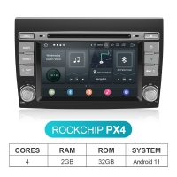 Quality Fiat Bravo Android 11 Car Stereo 1024*600P Touch Screen With GPS Navigation for sale