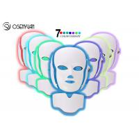 Quality 7 Colors LED Light Therapy Face Mask SPA Facial Rejuvenation / Anti Eye Wrinkles for sale