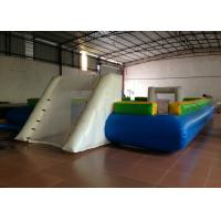 China Waterproof Inflatable Water Soccer Field , Big Party Inflatable Soccer Ball Game on sale