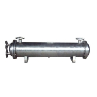 Quality SS304 Air conditioner shell and tube heat exchanger for heat pump for sale