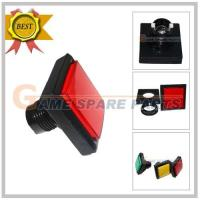 Quality 51mm Medium Square with LED light Push Button (red) for sale