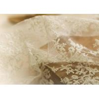 Quality Delicate 130CM Floral Embroidered Nylon Lace Fabric For Underwear Nightwear for sale