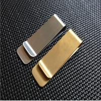 Quality Classic Design Strong Metal Money Clips With Gold Or Silver Plating for sale