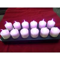 Buy cheap Purple flameless electronic led rechargeable candle with 21 buttons from wholesalers