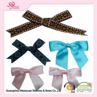 China Personalized Pre tied Ribbon Bows For Greeting Card , premade christmas bows 7cm on sale