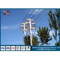Quality Distribution Line Q235 Electric Power Poles Steel Tubular Pole With Two Circult for sale