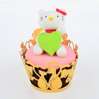Quality Reusable Animal Shaped Cupcake Wrappers For Weddings Cake Decorating 82mm * 51mm for sale