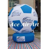 China custom advertising inflatable soccer ball inflatable football model for sport event on sale