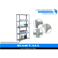 China Light Weight Slotted Angle Shelving With Bolt And Nuts , Closet Metal Storage Shelves on sale