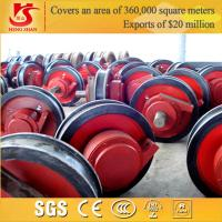 Quality Chinese manufactured forged heavy duty gantry crane wheels for sale