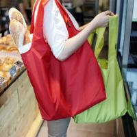 Best The new nylon environmental folding portable bag Casual handbags The large capacity waterproof shopping bag wholesale