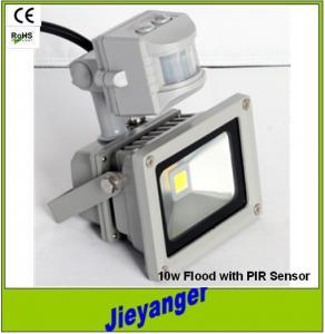 China High Brightness 10W COB Outdoor LED Floodlight PIR Sensor Light on sale