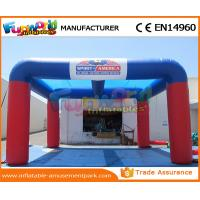 Best Blue / Red PVC Tarpaulin Inflatable Garage Tent Inflatable Car Wash Tent wholesale