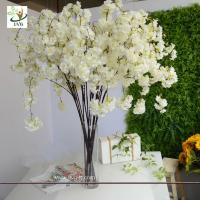 Best UVG CHR129 white cherry blossom branches faux silk flowers for wedding home decoration wholesale