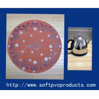 Quality Round Promotional Custom Drink Coasters / Soft Pvc Plastic Cup Coaster for Decoration for sale