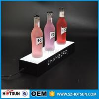 Best factory direct sale clear display holder stand, laser cutting thick acrylic customized led base wholesale