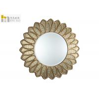 Quality Luxury Round Glass Venetian Mirror , Decorative Vanity Mirror For Makeup Dressing for sale