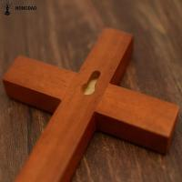 Quality Customized Color Hand Held Handmade Wooden Crosses With Hanger , Sample Free for sale