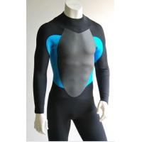 China Black/Blue Mens Full Body Neoprene Suit Surf With Mesh Skin trim on the chest and back on sale
