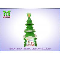 Best Christmas Tree Cardboard Cupcake Stands , Round Cardboard Cake Stands With 4 Sides wholesale
