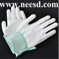 Quality ESD PU Palm Coating Safety Glove for sale