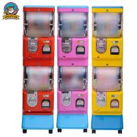 Quality Double Layer Gumball Vending Machine With Coin Operated 1-6 Coins for sale