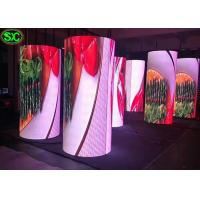 Quality Soft P4 Indoor Full Color Round Advertising LED ScreensCylindrical For Live Events for sale