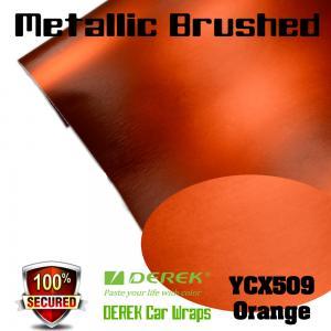 Quality Matte Metallic Brushed Vinyl Wrapping Film - Matte Metallic Brushed Orange for sale