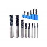 HRC55 Tungsten Carbide End Mill Cutting Tool For Aluminum , D3*8*4*50 D18*50*18*100