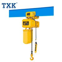 China Anti-Phase Protector Single Phase Electric Chain Hoist , Air Chain Hoist With Hot Forged Hook 360 Degree Rotation on sale