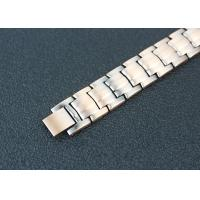 Quality Health Care Magnetic Stainless Steel Bracelets Custom Rose Gold Plated for sale