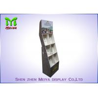 Quality Eye - Catching Magazines Cardboard Floor Display Stands , Cardboard Book Displays Shelves for sale