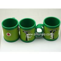Quality Custom cheap and cute cartoon pvc silicone wrap plastic promotional mugs for sale