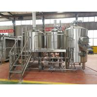 Buy cheap 1000L micro beer brewing equipment for nanobrewery with stainless stain material from wholesalers