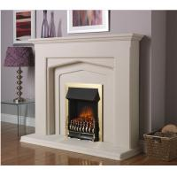 China natural stone white marble fireplace on sale