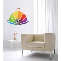 Quality Modern Home Decoration Crystal Boat Wall Sticker Clock 10D013 for sale
