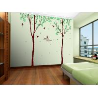 Quality Self Adhesive PVC Removable Wall Stickers Tree Photo For School for sale