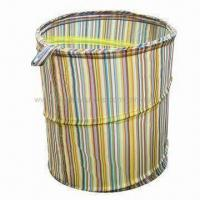 China Pop-up Hamper/Folding Laundry Hamper, Made of 100% Polyester on sale