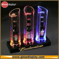 Cheap Customized Acrylic Lighted Liquor Bottle Display Shelf with 3-bottle holder for Bar / Club for sale