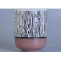 China Custom Beautiful Ceramic Candle Holder Color Coating For Home Decoration on sale