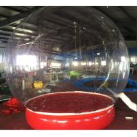 Quality Inflatable Bubble Show Ball Inflatable Red Bubble Tent For Display 2M D for sale